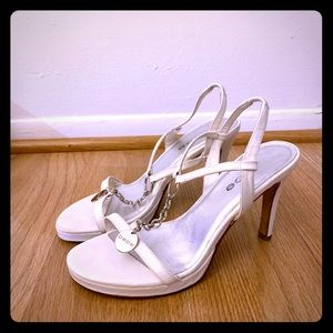 Bebe white shoes